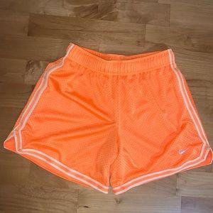 Nike girls shorts size M orange